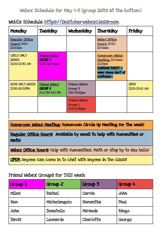 Online Classroom Example